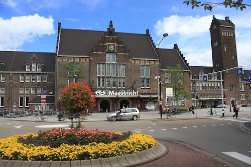 The facade of Maastricht Central Station